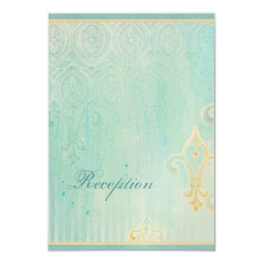 Fleur di Lys Damask 2 - Wedding RSVP Response Card