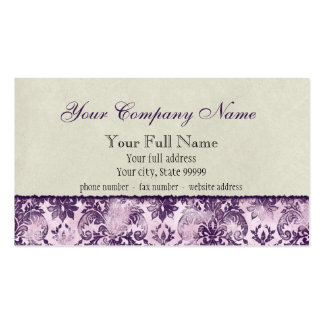 Fleur di Lys Damask Lilac Business Cards