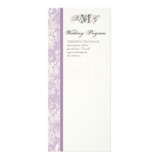 Fleur di Lys Damask - Lilac Wedding Program Personalized Announcement