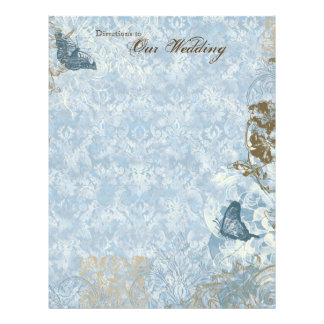 Fleur di Lys Damask - Stationery Wedding Flyer