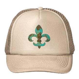 Fleur Faux Stone 1 Mesh Hats