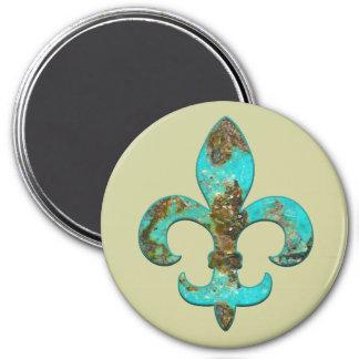 Fleur Faux Stone 1 Magnet