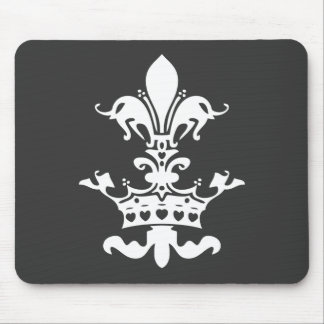 Fleur Heart Crown - Black Mousepad