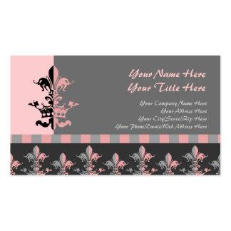 Fleur Heart Crown - Pink Business Card