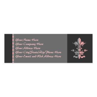 Fleur Heart Crown - Pink Business Cards