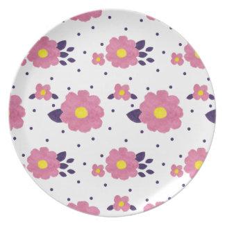 Fleur Rose Dinner Plates