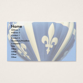 Fleurdelisé template business card