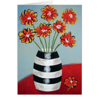 Fleurs and Stripes Art Card