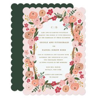 Fleurs du Bois  | Retro Floral Fairytale Wedding Card