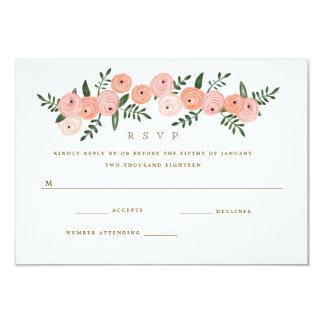 Fleurs du Bois Retro Floral Fairytale Wedding RSVP Card