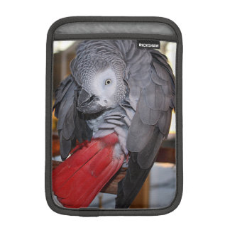 Flexible Congo African Grey Parrot with Red Tail iPad Mini Sleeves