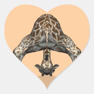 Flexible Giraffe Heart Sticker