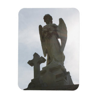 Flexible Photo Magnet - angel statue and cross
