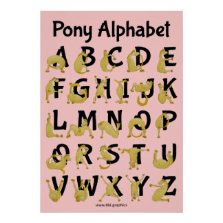 Flexible Pony | Alphabet Chart Poster