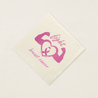 Flexing arms to fight breast cancer disposable napkin