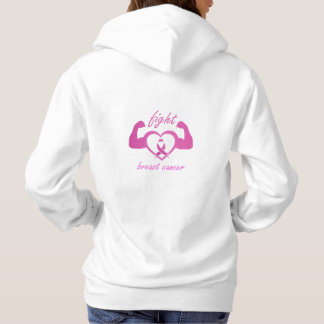 Flexing arms to fight breast cancer hoodie