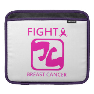 Flexing arms to fight breast cancer iPad sleeve
