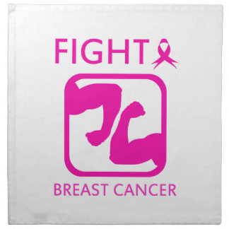 Flexing arms to fight breast cancer napkin