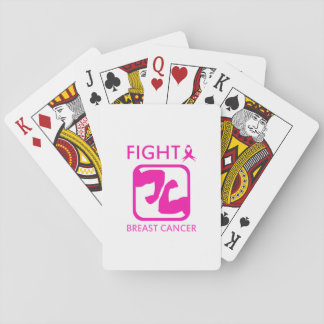 Flexing arms to fight breast cancer playing cards