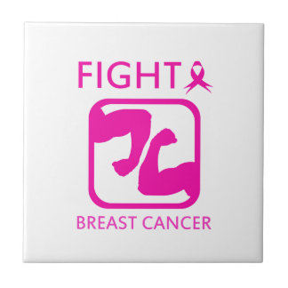 Flexing arms to fight breast cancer tile