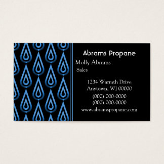 Flickering Flames Business Card, Electric Blue Business Card