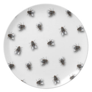 Flies Party Plate