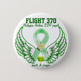 Flight 370-Forever in our hearts & prayers_ 6 Cm Round Badge