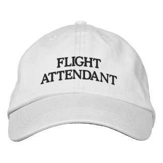 Flight Attendant Baseball Hat Embroidered Baseball Cap