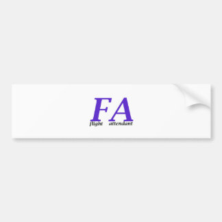 Flight Attendant Bumper Sticker