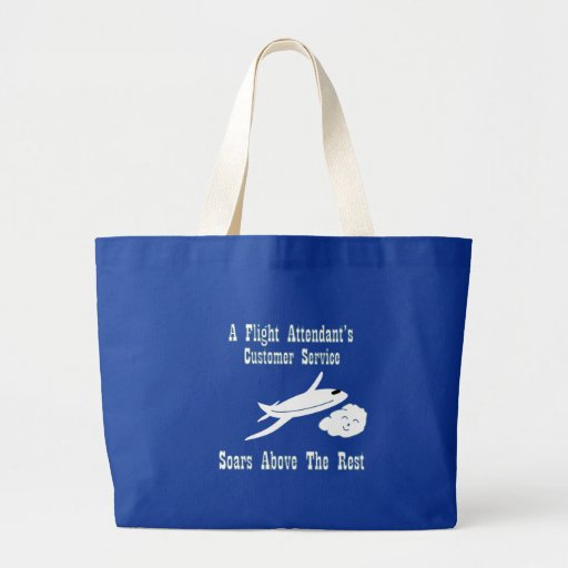 Flight Attendant Customer Service Tote Bags