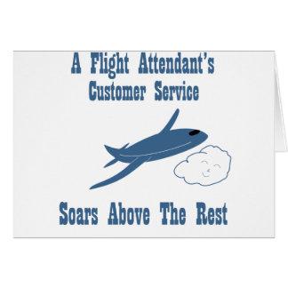 Flight Attendant Customer Service Greeting Card