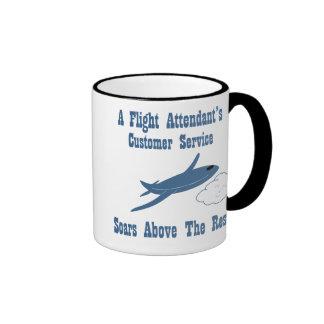 Flight Attendant Customer Service Ringer Mug