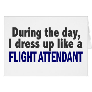 Flight Attendant During The Day Greeting Card