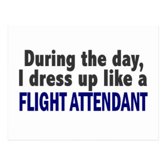 Flight Attendant During The Day Postcard