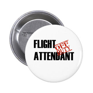 FLIGHT ATTENDANT LIGHT 6 CM ROUND BADGE