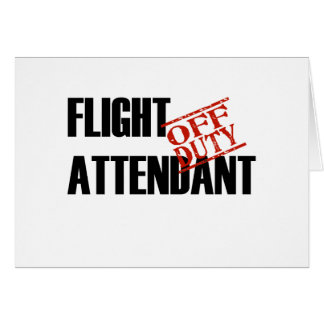 FLIGHT ATTENDANT LIGHT GREETING CARD