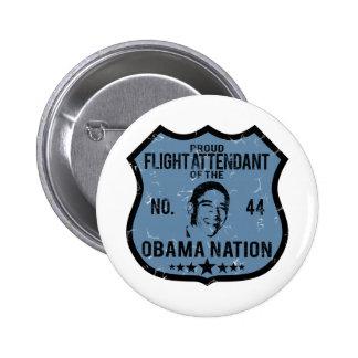 Flight Attendant Obama Nation 6 Cm Round Badge