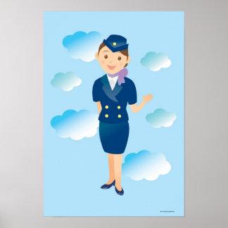 Flight Attendant Poster