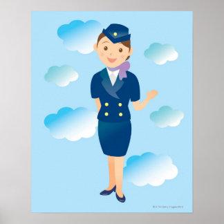 Flight Attendant Print