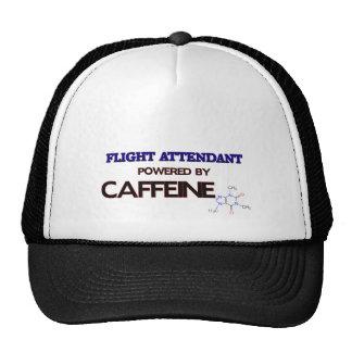 Flight Attendant Powered by caffeine Trucker Hats