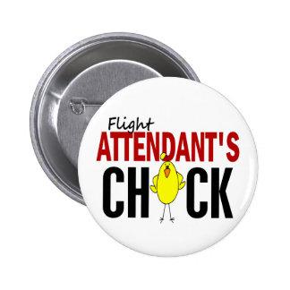 Flight Attendant's Chick Pin