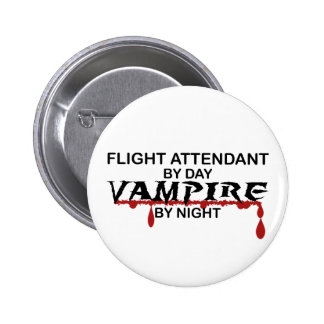 Flight Attendant Vampire by Night 6 Cm Round Badge