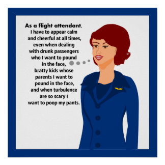 Flight Attendant Woes Posters