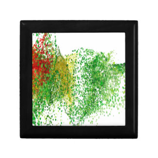 Flight colored particles in the air small square gift box