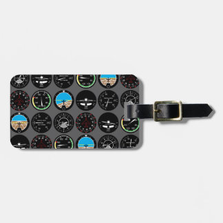 Flight Instruments Luggage Tag