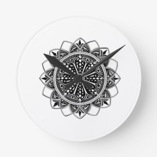 Flight Mandala Round Clock