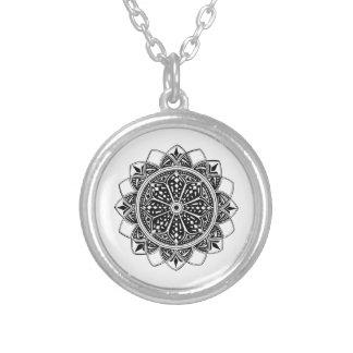 Flight Mandala Silver Plated Necklace