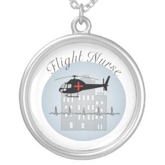 Flight Nurse Necklace Sterling Silver