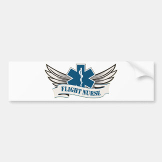flight nurse wings bumper sticker
