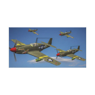 Flight of A-36 Apache Dive Bombers Canvas Print